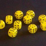 12mm Opaque Spot Dice - Yellow